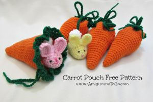 Crochet Carrot Pouch by sojala
