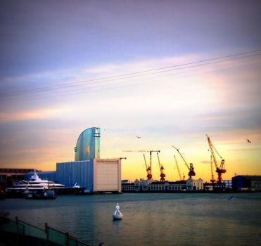 Seaport in Barcelona. by FunnyPoison