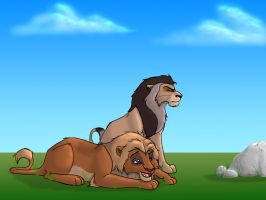 Lions (old) by JessiRenee