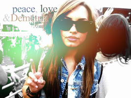 peace, love and Demetria by c-lumsy