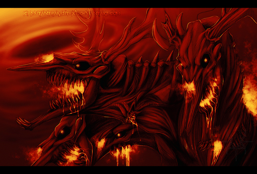 Burning Now I Bring You Hell! by MutantParasiteX