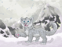 Snow Leopard in the Mountains by fox-fire14