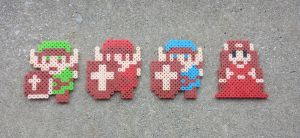 Classic Link + Zelda - LoZ Perler Bead Sprites by MaddogsCreations