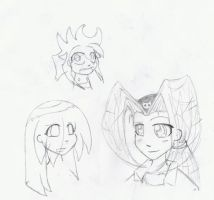 Face drawings by Colddigger