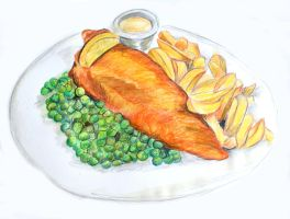 Fish n Chips by lolmidge