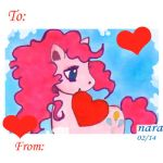 Pinkie Pie Hearts and Hooves Card by prettyism