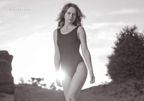 leotard black and white by Raspberry-Jam-Model