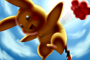 Flying Pikachu by Togechu