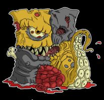 Quarantine Logo Gone Brutal by Cannibal-Cartoonist
