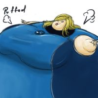 Invisible Woman puffed by shydude