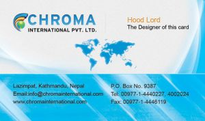 My 2nd Visiting Card Design by hood-lord