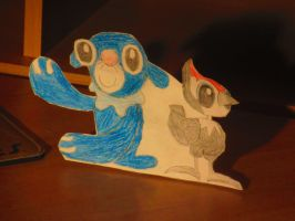 Popplio and Pikipek Papercraft! by TheYoshiState