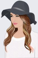 Girl with Hat by hermanmunster