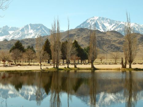 Mountains Behind the Pond by bowencormac
