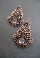 Earrings with Ametrine by nastya-iv83
