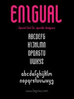 Enigual Font by spinal123