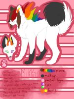 Mikka ref sheet by coffaefox
