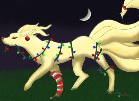 Christmas Ninetails by goatheart