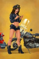 Cop Pinup by Chronoperates