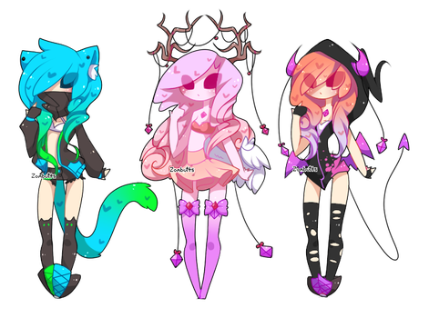 Adoptables Batch 19: CLOSED by Fawniive