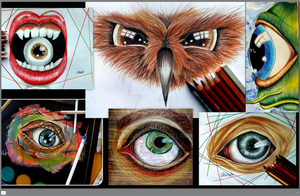 My Eyes collage :) by PinkaArt
