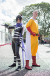 One Punch Man - Sonic + Saitama Cosplay by Lithium-Toxide