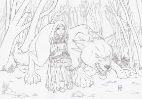 Little Red and her big bad wolf by TashOToole