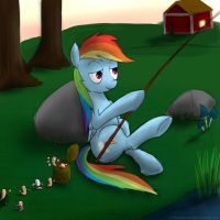 Dashie's Fishing by rule1of1coldfire