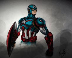 Captain America - coloured by MALIKISVENGEANCE