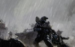 Epic Battle in Rain by MorgaMarcus
