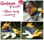 sleepy Quilava plush by SilkenCat