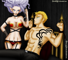 Laxus and Mira - Commission by ScarletSky7