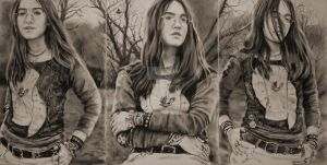 Norwegian Wood triptych by White-Lily-Art