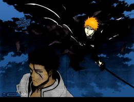 Bleach 387 page 20 colored by Skullatos-kun