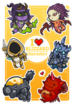 Blizzard Characters Tribute by 2MindsStudio