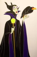 Disney's Maleficent and Diablo by cbgorby