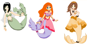 mermaid friends by DeathAuther
