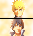Naruto And Sasuke_color_by_afran67 by afran67