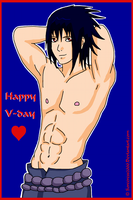 Valentines Day Card : Sasuke by Sorceress2000