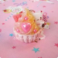 Strawberry Custard Bear by CatNapCaps