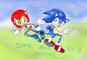 -The best friends of satam - Sonic + sally by Spring-violet1