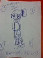 An Attempt at drawing Vanellope by XxXNikkiColaXxX