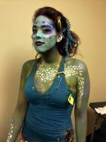 Water fall, my creature of the sea 1 by Pulse-Hair-Makeup
