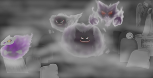 Happy Halloween from Lavender town WIP by Matau228