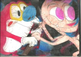 Sketch Pad Ren and Stimpy 3 by RozStaw57