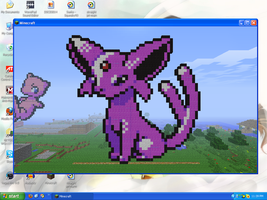 MineCraft Art - Espeon by SqueakyTachibana