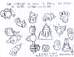 Concept Of Sonic Hands by DarkCatSoul