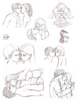 Kissing People - Sketches by FernandaNia