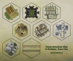 Hex tiles - structures by miss-hena