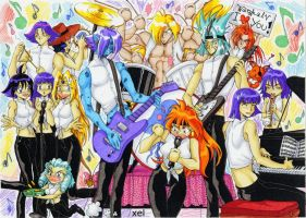 Slayers' band by xel-